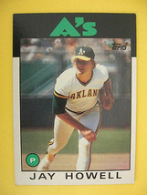 1985 TOPPS Jay Howell 34 Oakland As Giant Baseball Card - $5.93