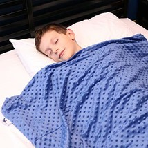 Huggaroo Children's Weighted Blanket with Plush Duvet Cover, 7 lbs, 36 ... - $149.99