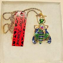 Betsy Johnson Cute Enamel & Crystal Bumblebee Pendant - $19.00