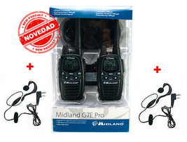 MIDLAND G7 PRO WITH HEADSETS NEW DESIGN WHIT MORE RANGE 25KMS PMR446/LPD - $124.95