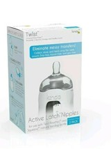 Lot of 10 Kinde Twist Active Latch Nipples Medium Flow 2 Pk anti colic 20 total - $67.72