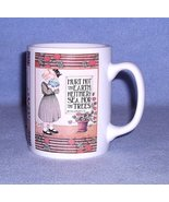 ME Ink OZ Mary Engelbreit Hurt not the Earth Mug Cup 1992 - $6.99