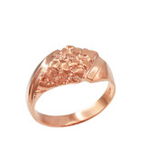 10K Mens Rose Gold Diamond-shape Nugget Ring - $269.99