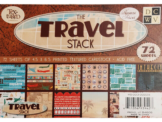 """DCWV The Travel Stack Cardstock, 4.5"""" x 6.5"""", 72 Sheets #MS-003-00025"""