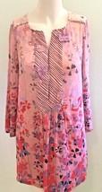 Juicy Couture Pink Floral Size 2 Drop Waist Long Sleeve Shift Floral Dre... - $74.76