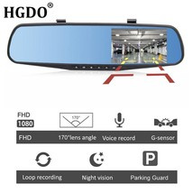 1080P Full HD Car DVR Dual Dash Cam Camera Kit Front Rear View Video Rec... - $33.84