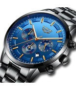 Men's Stainless Steel Watch Fashion Casual Luxury Business Chronograph Q... - $24.70