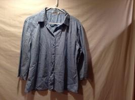 Ladies Italian 3/4 Sleeve Button Down Blue Shirt By Jil Sander Sz 40