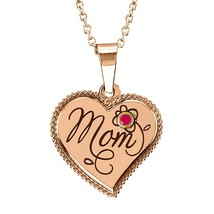 Mom Heart Pendant - October Perfect Gift  - $59.09