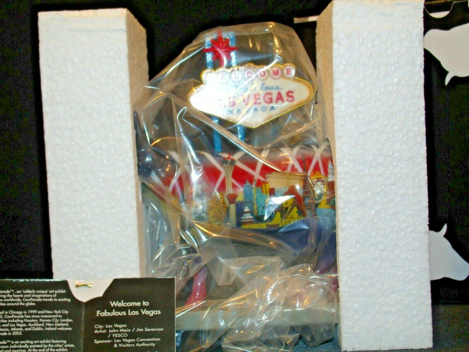 CowParade Welcome to Fabulous Las Vegas Westland Giftware # 7326 AA-191945 Coll