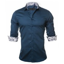 2018 New Arrival Fashion Autumn and Winter Men's Floral Printed Shirt Gentleman  - $40.60