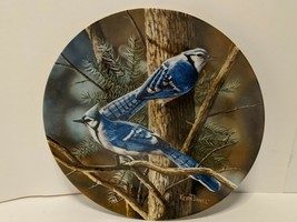"""Vintage 1985 Knowles China """"The Blue Jay"""" by Kevin Daniel Collectible Plate - €6,59 EUR"""