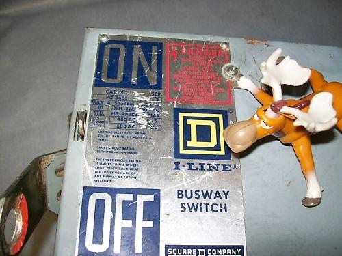 Square D I-Line Busway Switch PQ-3603 PQ3603 30A 600VAC