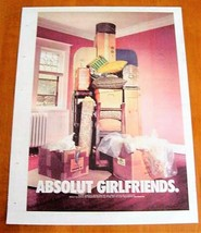 ABSOLUT GIRLFRIENDS Canadian Vodka Ad LARGE NEWSPAPER PAGE 2002 HARD TO ... - $9.99