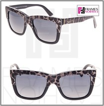 Dolce & Gabbana 4262 Leopard Square Black Brown Polarized Sunglasses DG4262 - $147.51