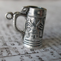 3D Beer Stein Charm Vintage Shube's - Made in the USA - Sterling Silver - $9.00