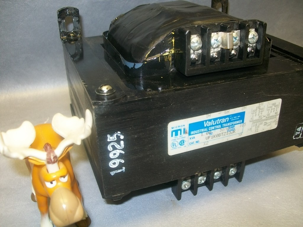 VF1K0BTZ13JK Valutran Control Transformer Pri. 220-480  Sec 110-120