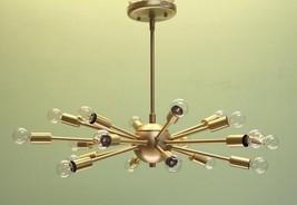 18 Light Modern Brass Sputnik atomic chandelier starburst light Fixture - £255.12 GBP