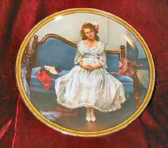 1983 Norman Rockwell Waiting at the Dance Plate w/ COA - $25.00