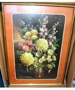 Vintage Framed Print Poster Daisies and Cornflowers R. Colao - $29.99