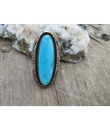Navajo Jerry Nelson Ring Turquoise Sterling Sil... - $200.00