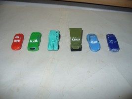 Disney Pixar CARS Board Game pieces.  Lot of 6 Character cars. - $6.44