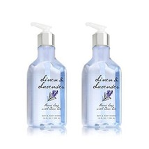 Bath and Body Works Linen & Lavender Hand Soap with Olive Oil. 10 Oz bot... - $24.49