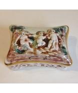 R Capodimonte Italy Trinket Box Vintage Jewelry Holder Porcelain Raised ... - $45.00