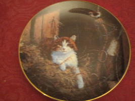 Cat And Jenny Wren Collector Plate Lowell Davis Schmid Rare Friends Of Mine Cats - $39.20