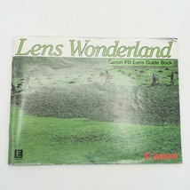 Vintage Canon FD lens country wonders camera Guidebook 1982 - $30.75