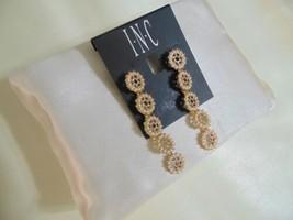 I.n.c. Gold-Tone Crystal & Imitation Pearl Flower Linear Drop Earrings H... - $10.55