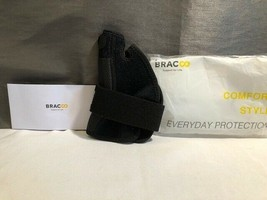 BRACOO BLACK REVERSIBLE THUMB STABILIZER ONE SIZE FITS ALL - NEW - $18.00