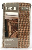 1 Count Croscill Salida 26 In X 26 In Multi European Pillow Sham 100%Po ...-$ 29.99