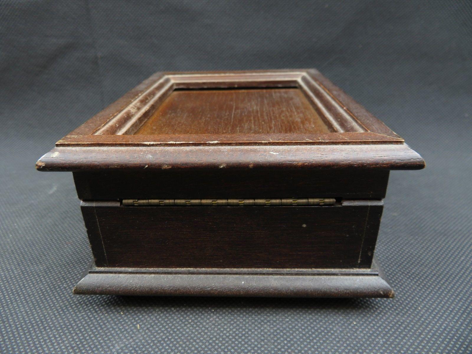 Vintage wood music box The San Francisco Music Box Company Mid Century deco