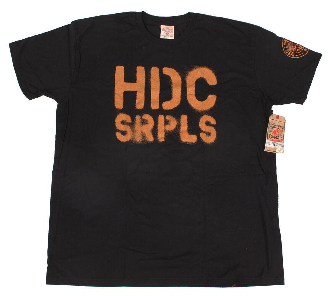 Hawke & Dumar Nero Marrone Hdc Pistola Club Surplus T-Shirt Nwt