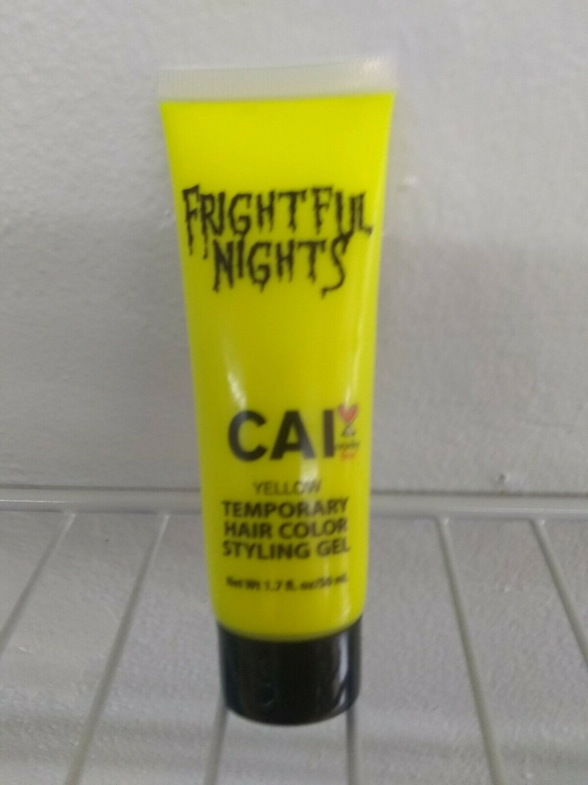 CAI Frightful Nights Temporary Hair Color Styling Gel - Yellow NEW