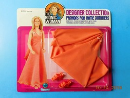 1976 BIONIC WOMAN PEACH EVEING DRESS Jaime Sommers fits Barbie size Doll... - $48.51
