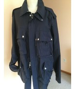 Men's Jacket,Blue,L,,Polyester,,Front zipper,Solid,Ralph Lauren, - $108.90