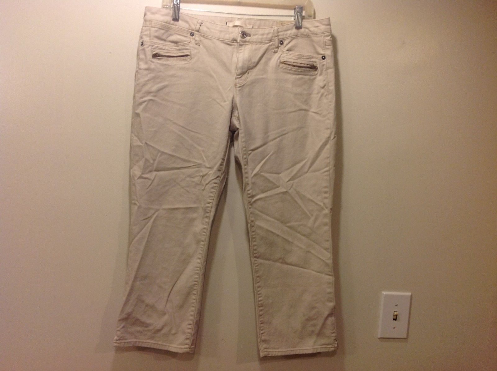 Vintage GAP Limited Edition Ladies Beige Capris Sz 30