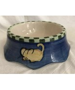BOOTS & BARKLEY CAT BOWL DISH WITH HAND PAINTED Fish Mouse Chicken NEW S... - $26.72