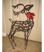 Hallmark Tall Metal Wire Reindeer With Ribbon Christmas Holiday Decor - $16.99