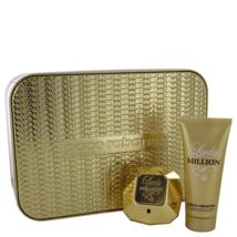 Paco Rabanne Lady Million 2.7 Oz Eau De Parfum Spray + 3.4 Oz Lotion Gift Set image 1