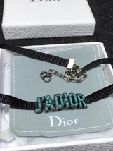 NEW AUTH Christian Dior J'ADIOR TURQUOISE Limited Edition Necklace Choker  image 2