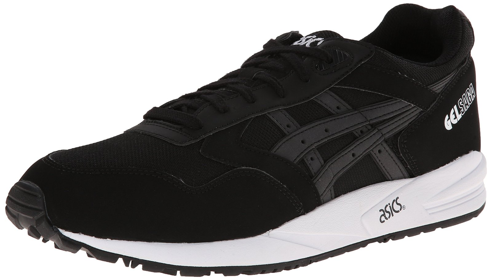 ASICS Gel-saga Retro Running Shoe, Black/Black, 5 M US