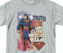 Superman T-shirt Truth,Justice & American Way retro DC comics tee SM1019 image 2