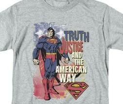 Superman T-shirt Truth,Justice  American Way retro DC comics tee SM1019 image 2