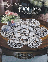 Easy Doilies to Crochet, American School Needlework Craft Pattern Booklet 1093 - $9.95