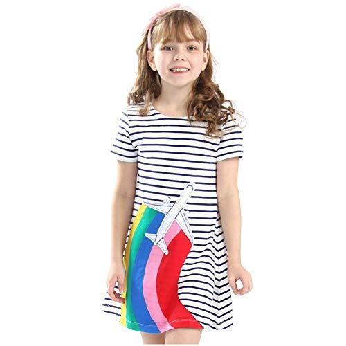 Primary image for Frogwill Toddler Girls Fifties Summer Dress Blue Rainbow 2-7Y (4T|Stripy)