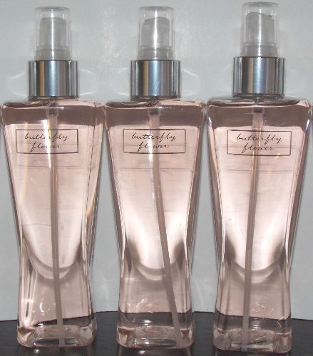 Bath & Body Works Butterfly Flower Fragrance - 8 Fl Oz Set of Three