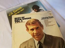 J.D. Souther You're Only Lonely & Best of Buck Owens Vol.2 Vinyl Record ... - £30.02 GBP